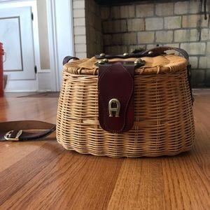 Vintage Etienne Aigner basket purse.